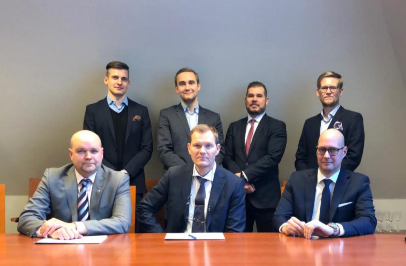 Contract signing in Helsinki 15.1.2021